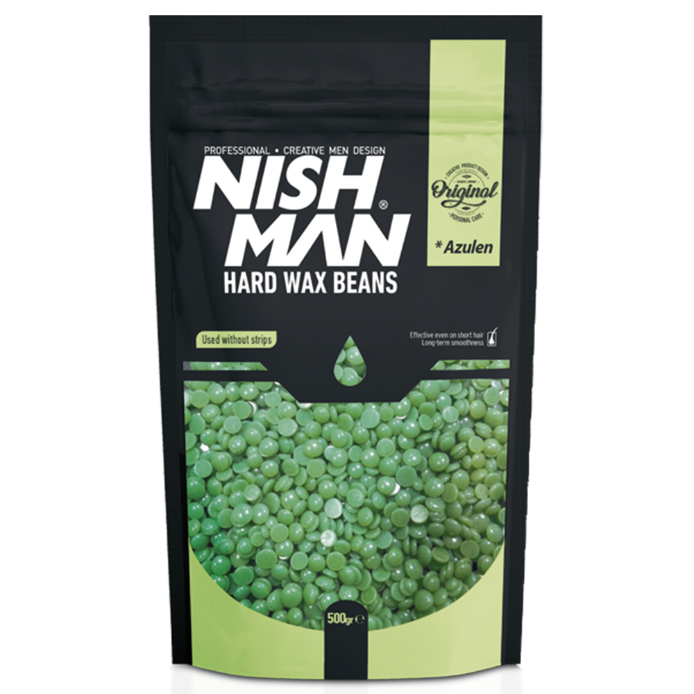 NISHMAN HAIR REMOVAL BEAN WAX AZULEN – 500gr