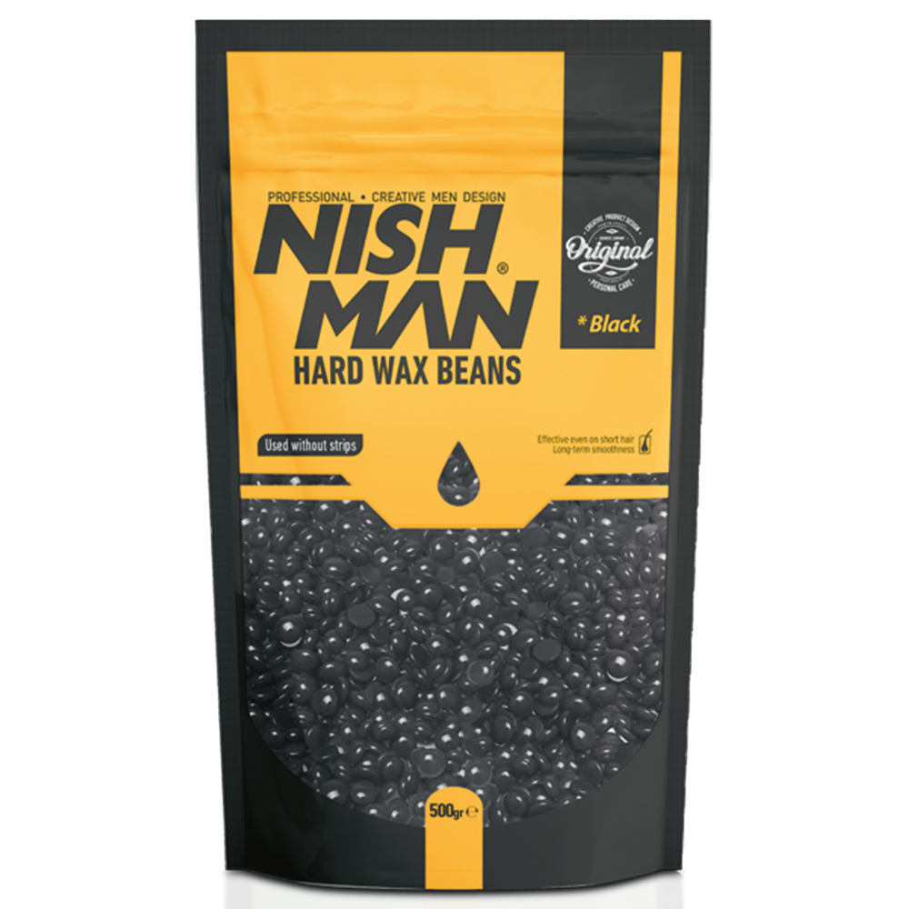NISHMAN HAIR REMOVAL BEAN WAX BLACK – 500gr
