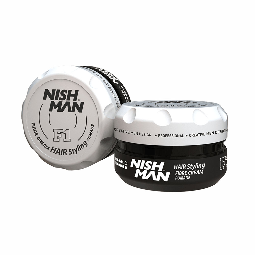 NISHMAN FIBRE CREAM HAIR STYLING POMADE F1 – 100ml