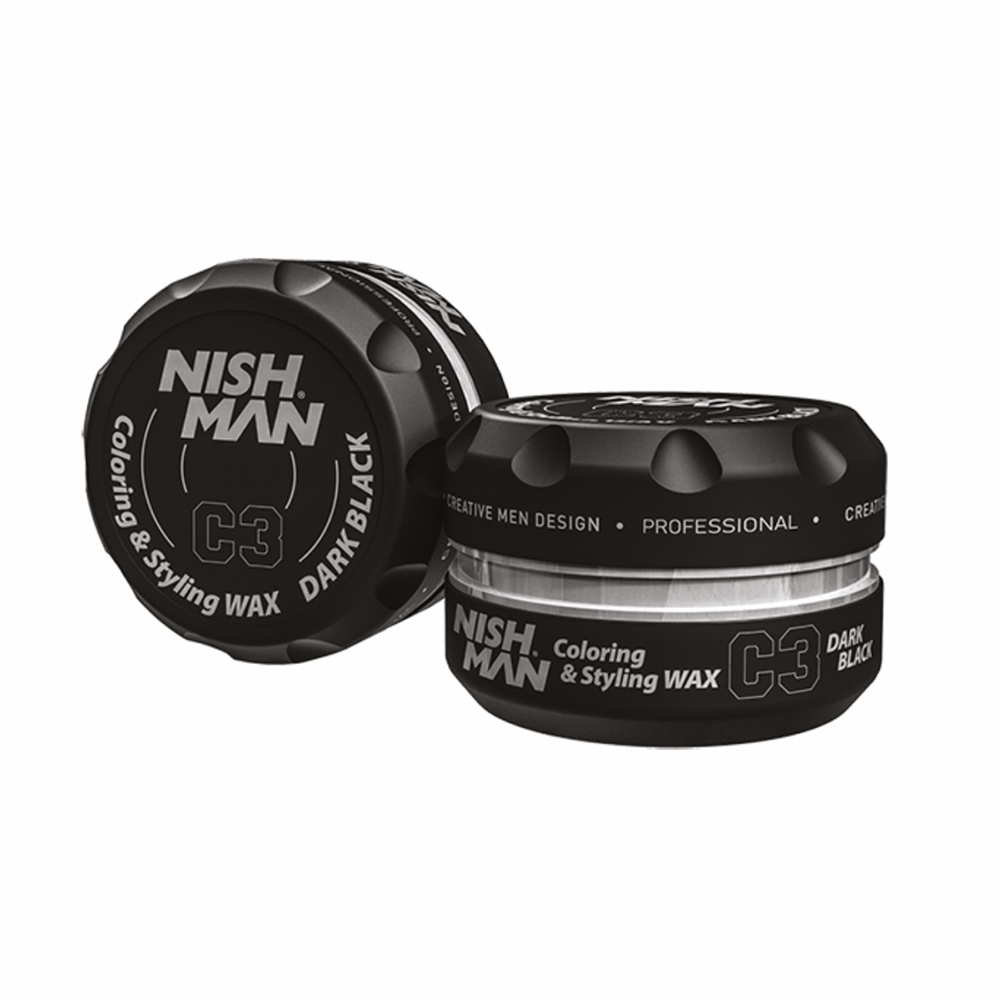 NISHMAN COLORING STYLING WAX DARK BLACK C3 – 100ml