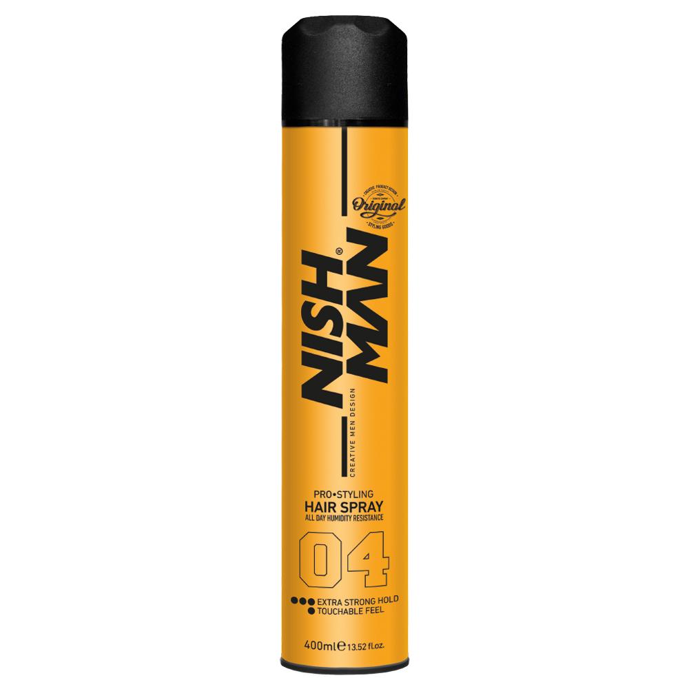 NISHMAN HAIR SPRAY EXTRA STRONG HOLD 04 – 400ml
